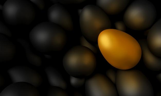 Koncept sztuki na wielkanoc, malowane jajka i różnice