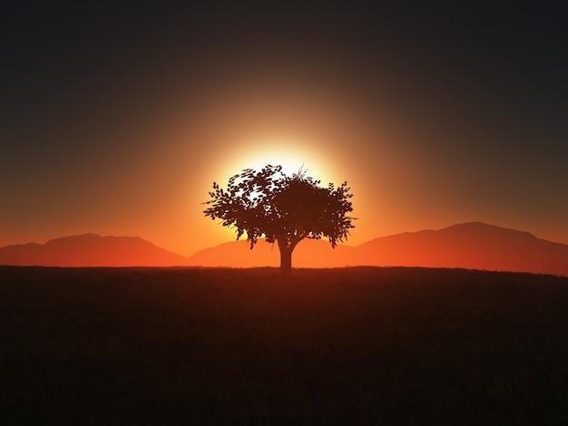 Konstrukcja drzewa sylwetka