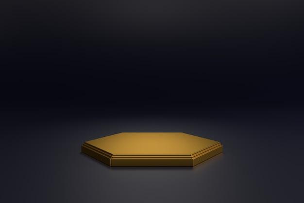Konstrukcja stoiska z luksusowymi koncepcjami. renderowanie 3d.