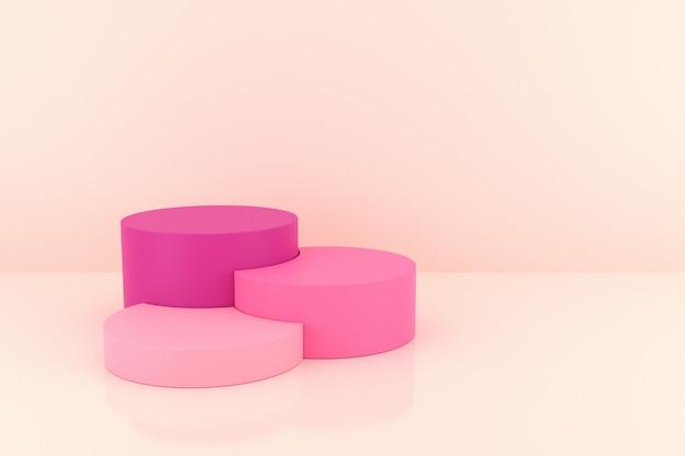 Konstrukcja stojaka o kształcie cylindra. renderowanie 3d.