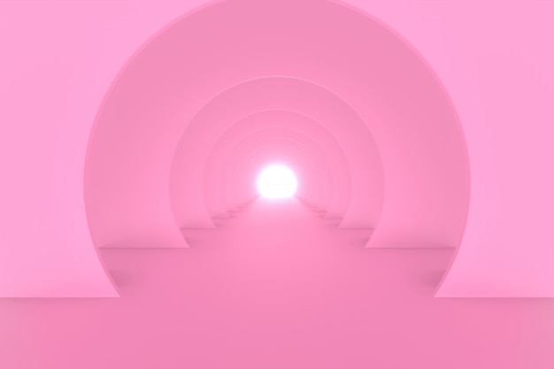 Konstrukcja stojaka o kształcie koła. renderowanie 3d.