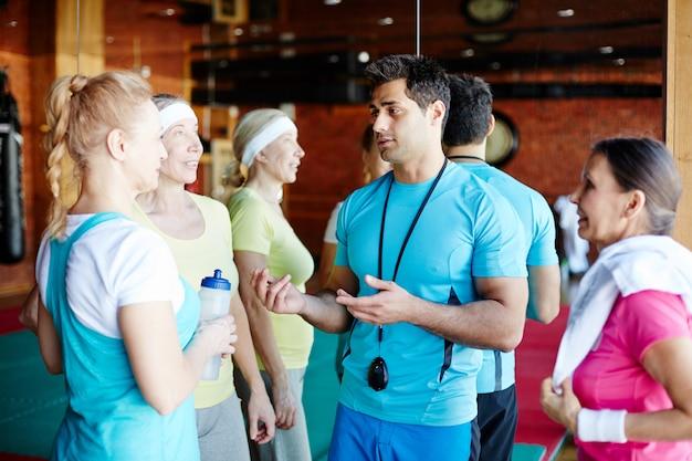 Konsultacje sportowe na siłowni