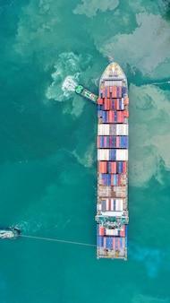 Kontenerowiec w biznesie eksportowym i importowym oraz logistyce.
