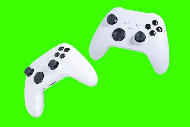Kontrolery gier z zielonym tłem do przycinania