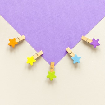 Koperta z haczykami w kształcie gwiazdek