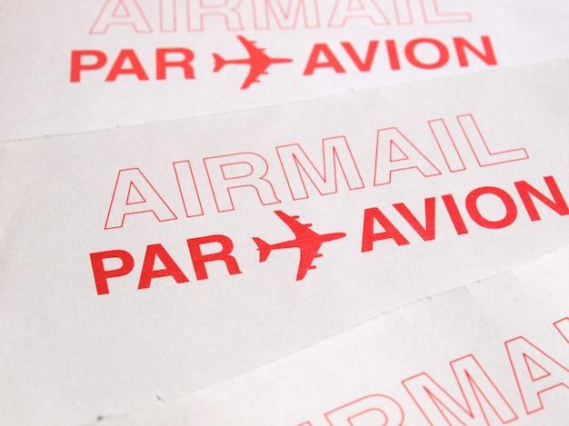 Koperta z listem lotniczym