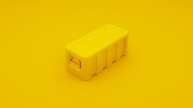 Koperta z żółtego metalu. renderowania 3d.