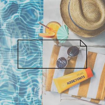 Kopiowanie miejsca etykieta logo pusta koncepcja projektowania tagów marki