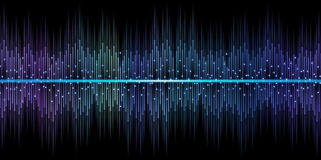 Korektor fali dźwiękowej dj 3d ilustracja blask światła