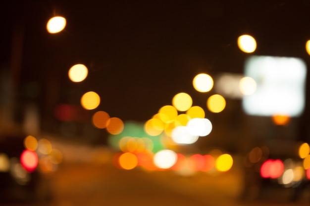 Korków w mieście - godzina szczytu nieostrość i nad rozmyte