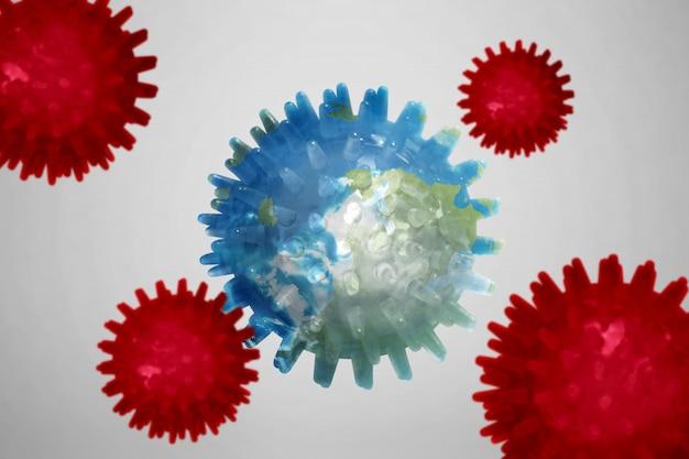 Koronawirus rozprzestrzenia się na ziemi