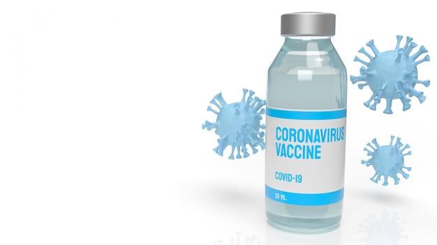 Koronawirus szczepionkowy do renderowania 3d treści medycznych.