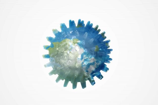 Koronawirus z widokiem na ziemię