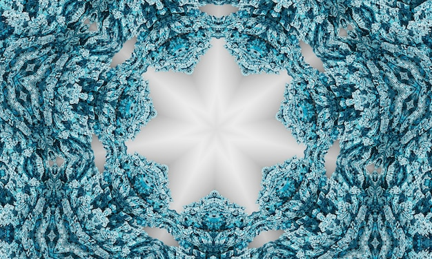 Koronkowy beżowy wzór z geometrią materiału na pastelowym szarym tle.