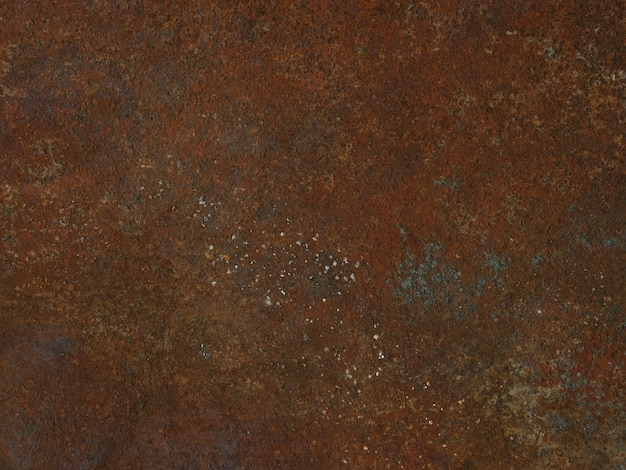Korozja metalowa z wyblakłymi kolorami i rdzą naturalna jasnoniebieska i pomarańczowa metalowa płyta stara...