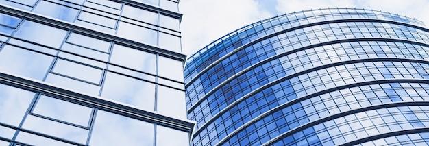 Korporacyjny budynek biurowy w dzielnicy finansowej nowoczesny wieżowiec w centrum miasta nieruchomości komercyjne...