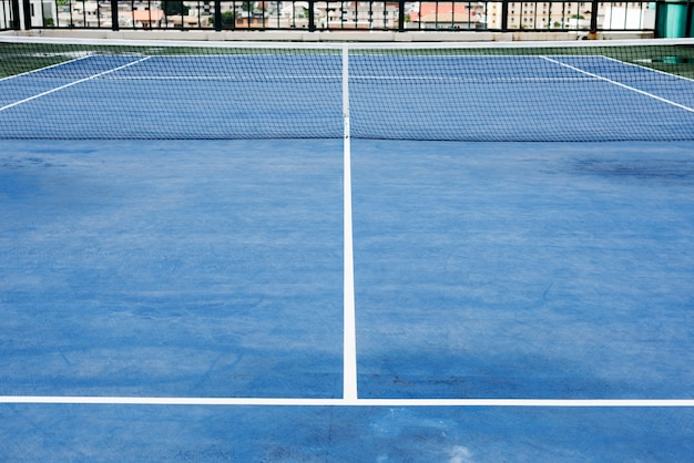 Kort tenisowy sport match zagraj w grę concept