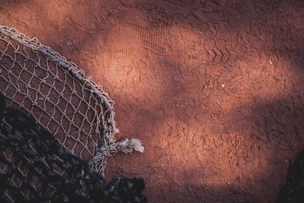 Kort tenisowy tekstury powierzchni ziemi. tenis sport tło.