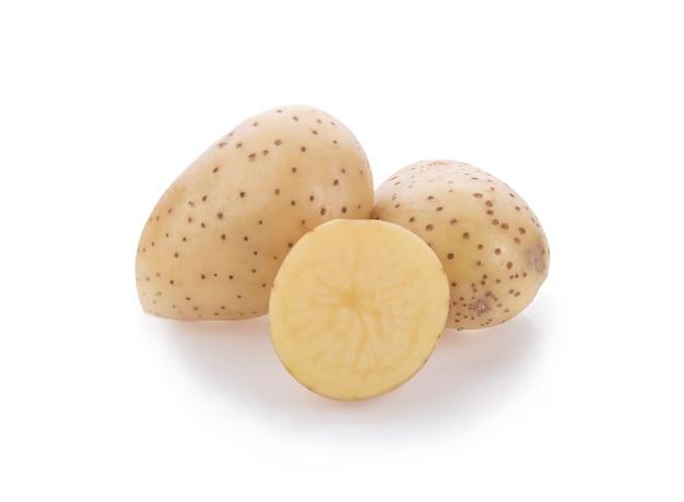 Korzeń ziemniaka na białym tle