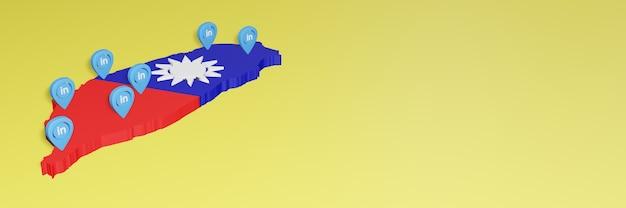 Korzystanie z linkedin na tajwanie na potrzeby telewizji w mediach społecznościowych i tła strony internetowej obejmuje puste miejsce