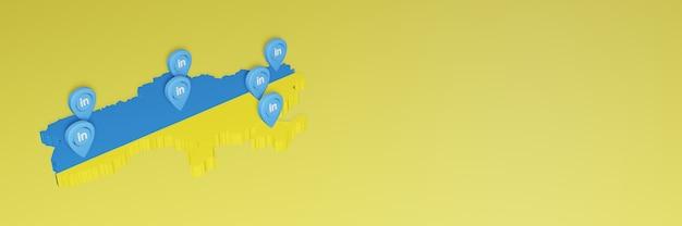 Korzystanie z linkedin na ukrainie na potrzeby telewizji w mediach społecznościowych i tła strony internetowej puste miejsce