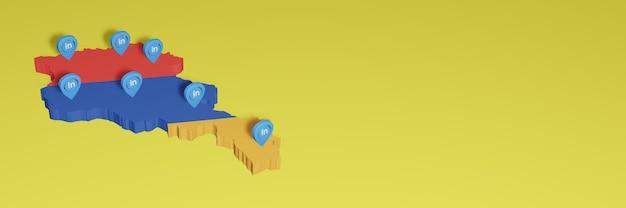 Korzystanie z linkedin w armenii na potrzeby telewizji społecznościowej i tła strony internetowej pusta przestrzeń