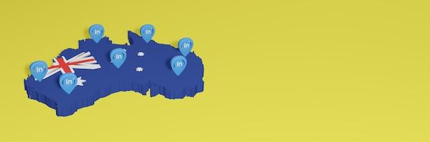 Korzystanie z linkedin w australii na potrzeby telewizji społecznościowej i tła strony internetowej