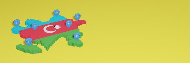 Korzystanie z linkedin w azerbejdżanie na potrzeby telewizji społecznościowej i tła strony internetowej