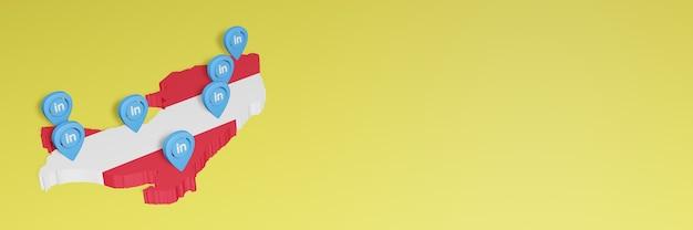 Korzystanie z linkedin w peru na potrzeby telewizji w mediach społecznościowych i tła strony internetowej obejmuje puste miejsce