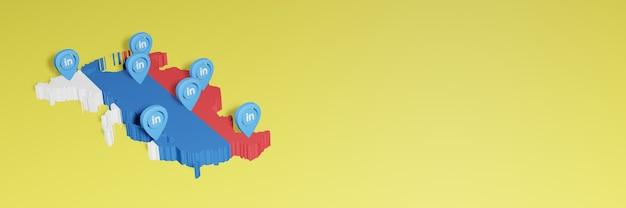 Korzystanie z linkedin w rosji na potrzeby telewizji społecznościowej i tła strony internetowej obejmuje puste miejsce