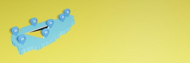 Korzystanie z linkedin w saint lucia na potrzeby telewizji społecznościowej i tła strony internetowej