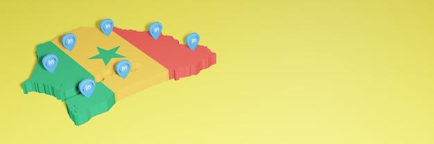 Korzystanie z linkedin w senegalu na potrzeby telewizji społecznościowej i tła strony internetowej obejmuje puste miejsce