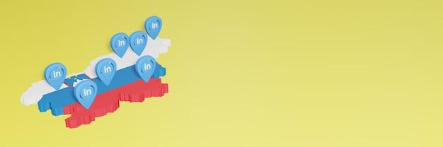 Korzystanie z linkedin w słowenii na potrzeby telewizji społecznościowej i tła strony internetowej