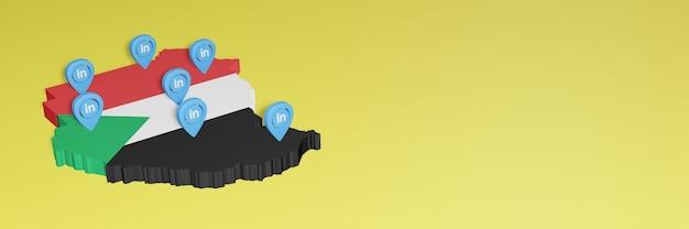 Korzystanie z linkedin w sudanie na potrzeby telewizji społecznościowej i tła strony internetowej obejmuje puste miejsce