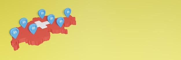 Korzystanie z linkedin w szwajcarii na potrzeby telewizji społecznościowej i tła strony internetowej