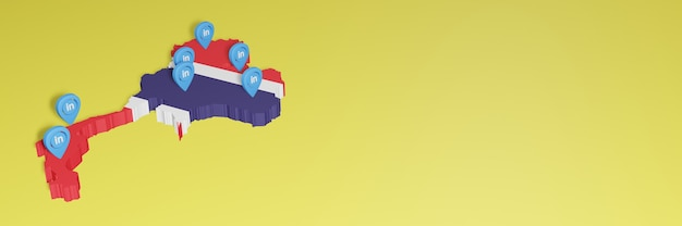 Korzystanie z linkedin w tajlandii na potrzeby telewizji społecznościowej i tła strony internetowej