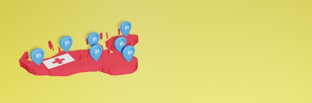 Korzystanie z linkedin w tonga na potrzeby telewizji społecznościowej i tła strony internetowej zakrywa puste miejsce