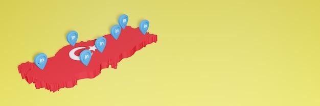 Korzystanie z linkedin w turcji na potrzeby telewizji w mediach społecznościowych i tła strony internetowej obejmuje puste miejsce