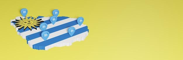 Korzystanie z linkedin w urugwaju na potrzeby telewizji społecznościowej i tła strony internetowej obejmuje puste miejsce