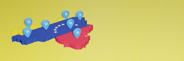 Korzystanie z linkedin w wenezueli na potrzeby telewizji społecznościowej i tła strony internetowej