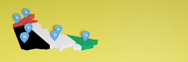 Korzystanie z linkedin w zjednoczonych emiratach arabskich na potrzeby telewizji społecznościowej i tła strony internetowej
