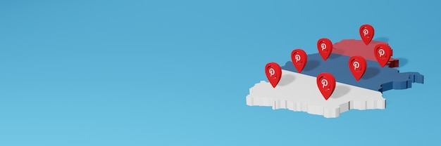 Korzystanie z pinteresta w serbii na potrzeby telewizji w mediach społecznościowych i tła strony internetowej obejmuje puste miejsce