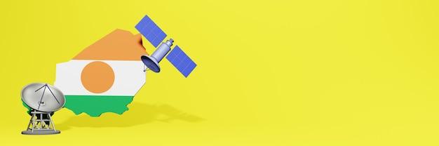Korzystanie z satelity w nigrze na potrzeby telewizji społecznościowej i tła strony internetowej obejmuje puste miejsce