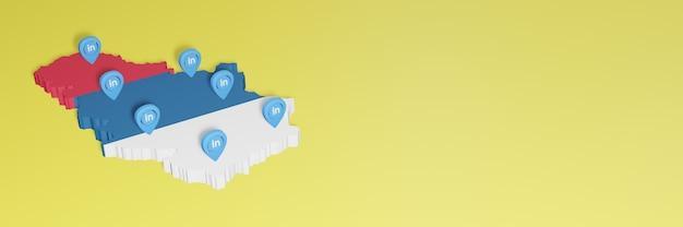 Korzystanie z serwisu linkedin w serbii na potrzeby telewizji w mediach społecznościowych i tła strony internetowej obejmuje puste miejsce