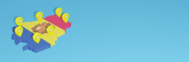 Korzystanie ze snapchata w andorze na potrzeby telewizji społecznościowej i tła strony internetowej, puste miejsce