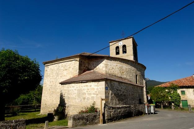 Kościół, espejo, alava, kraj basków, hiszpania, religia, budynek, dzień