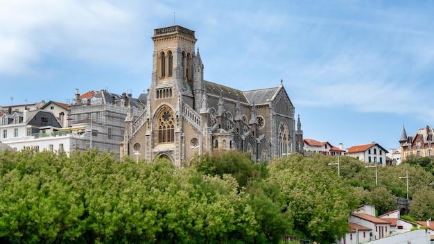 Kościół miasta biarritz, francja