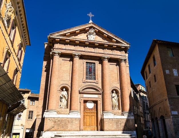 Kościół san cristoforo w sienie we włoszech