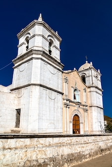 Kościół san pedro de alcantara w cabanaconde, peru