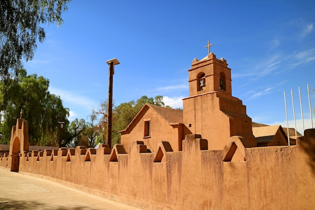 Kościół san pedro de atacama w el loa w północnym chile